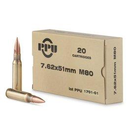 PPU PPU 7.62X51 145GR M80 FMJ