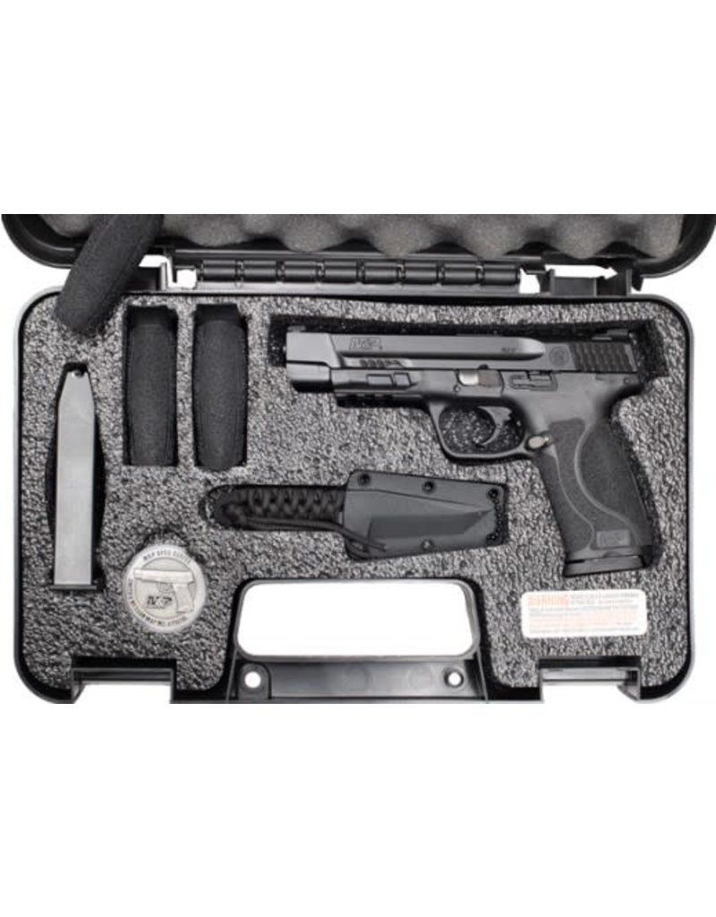 "Smith & Wesson S&W M&P M2.0 9MM 5"" SPEC SER 1 PISTOL KIT W/NECK KNIFE POLYR"