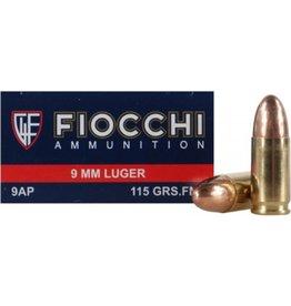 Fiocchi Ammunition 9mm 115FMJ 50