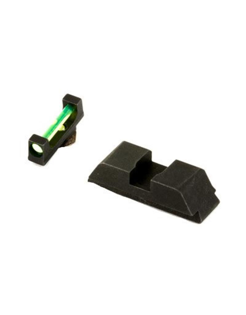 AmeriGlo AmeriGlo Fiber Optic Glock GRN/BLK
