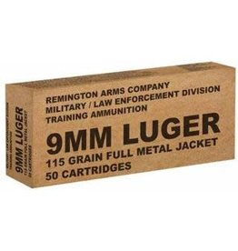 Remington 9mm 115gr FMJ LE Training