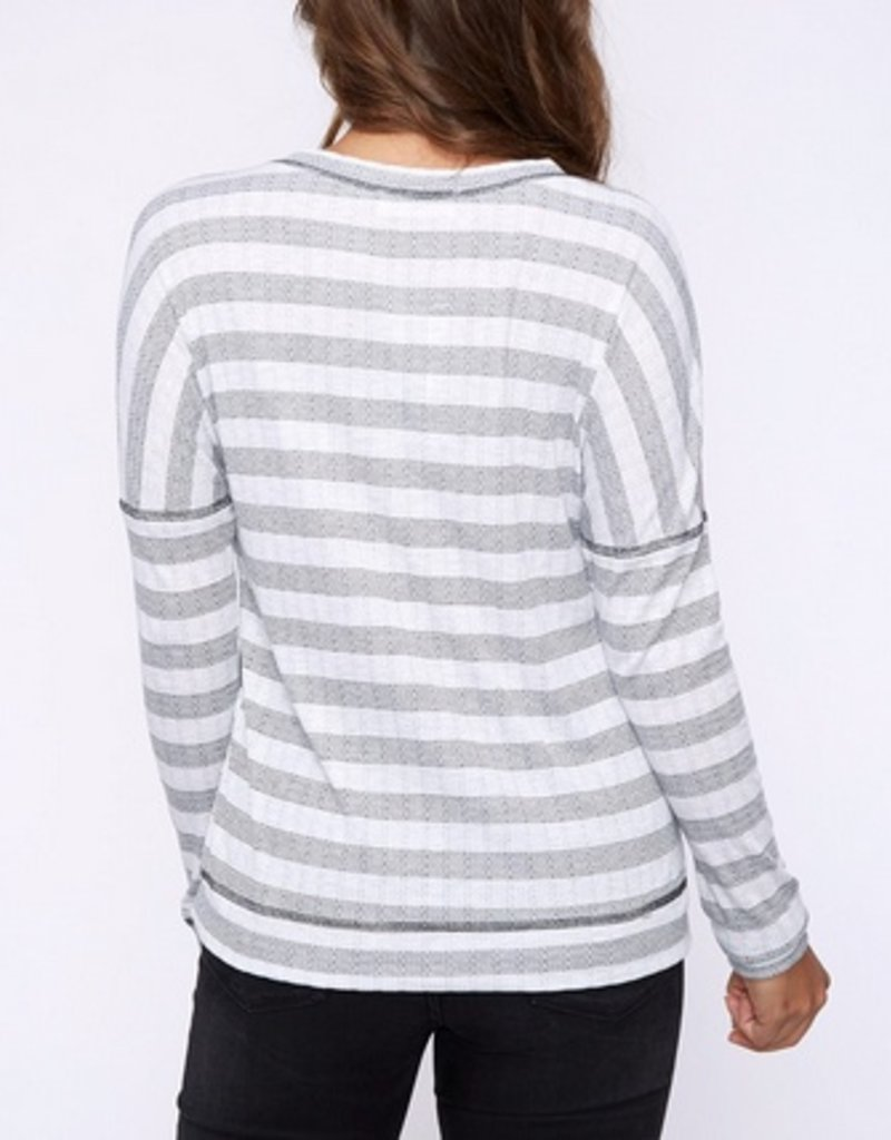 Stripe Comfort Fit LS