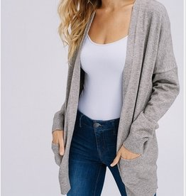 Open Sleeve Front Pocket Cardigan