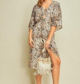 Flowy Snake Print Dress