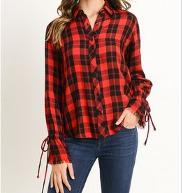 Button Up Flannel Style Top
