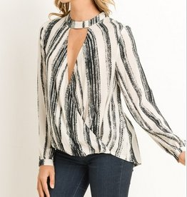 Worker Girl Flowy Top With Choker