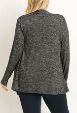 Knit Heather Open Front Cardigan