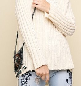 Long Sleeve Chenille Round Neck Knit Pullover