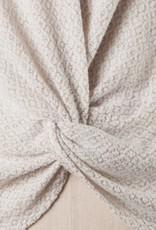Textured Twist Front Sweater