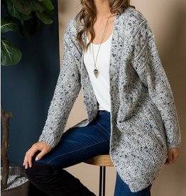 Chunky Multi Color Knit Cardigan