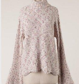 Flecked Bell Sleeve Sweater