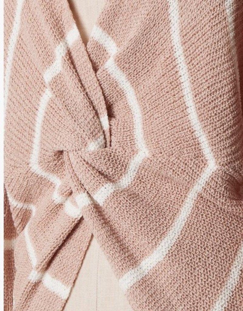 Open Back Stripe Sweater