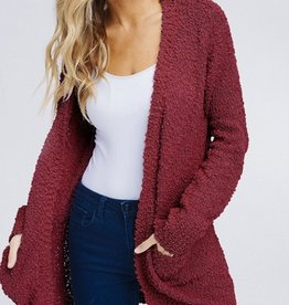 Long Sleeve Solid Knit Cardigan