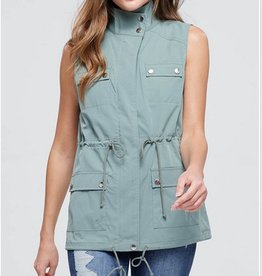 Military Utility Zip-Up Vest