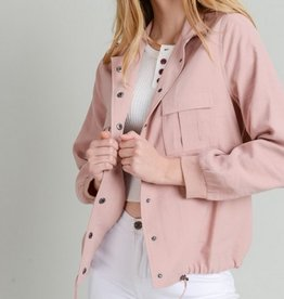 Tie Bottom Button Up Jacket