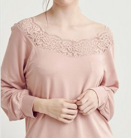 Wide Neck Lace Top