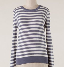 Long Sleeve Striped Knit Sweater