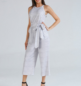 Stripe Crop Jumpsuit