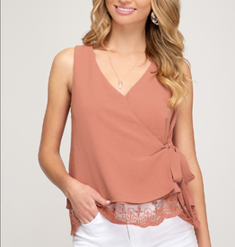 All Dressed Up Lace Trim Tank