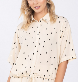 Cropped Dot Top