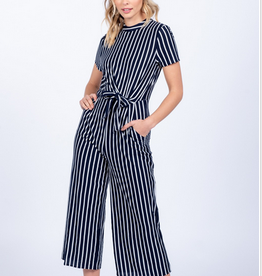 High Neck Crop Jumpsuit