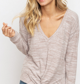 V-Neck Twist Top