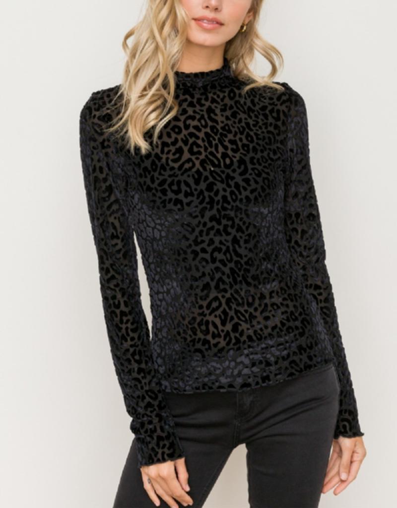 Leopard Burnout Velvet Longsleeve