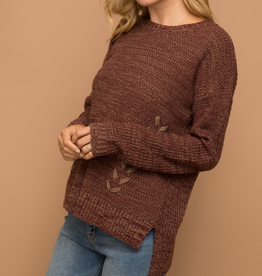 Lace Up Side Sweater