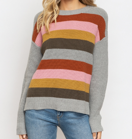 Sweater With Suede Patch Elbow