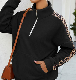 Leopard Zip Up