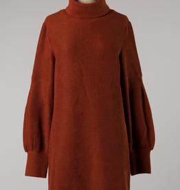 High Neck Knit Sweater Dress