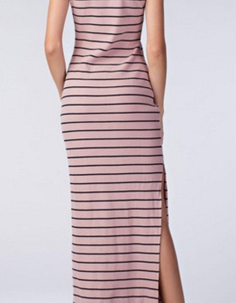 Stripe Slit Maxi