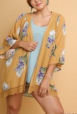 Floral Kimono With Crochet