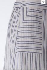 Stripe High Waisted Skirt