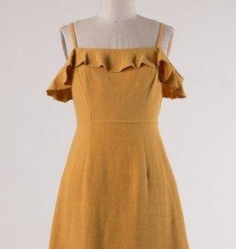 Spagetti Strap Ruffle Dress