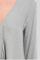 Bell Sleeve Tie Blouse