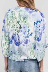 Floral Kimono Sleeve Top