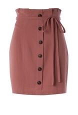 High Rise Waist Woven Skirt