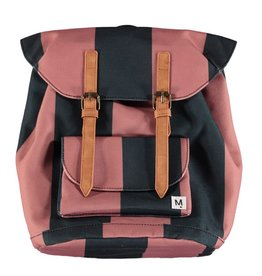 Striped Strapped Backpack