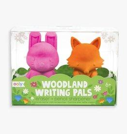 ARTS & CRAFTS International Arrivals Woodlands Writing Pals Eraser Set