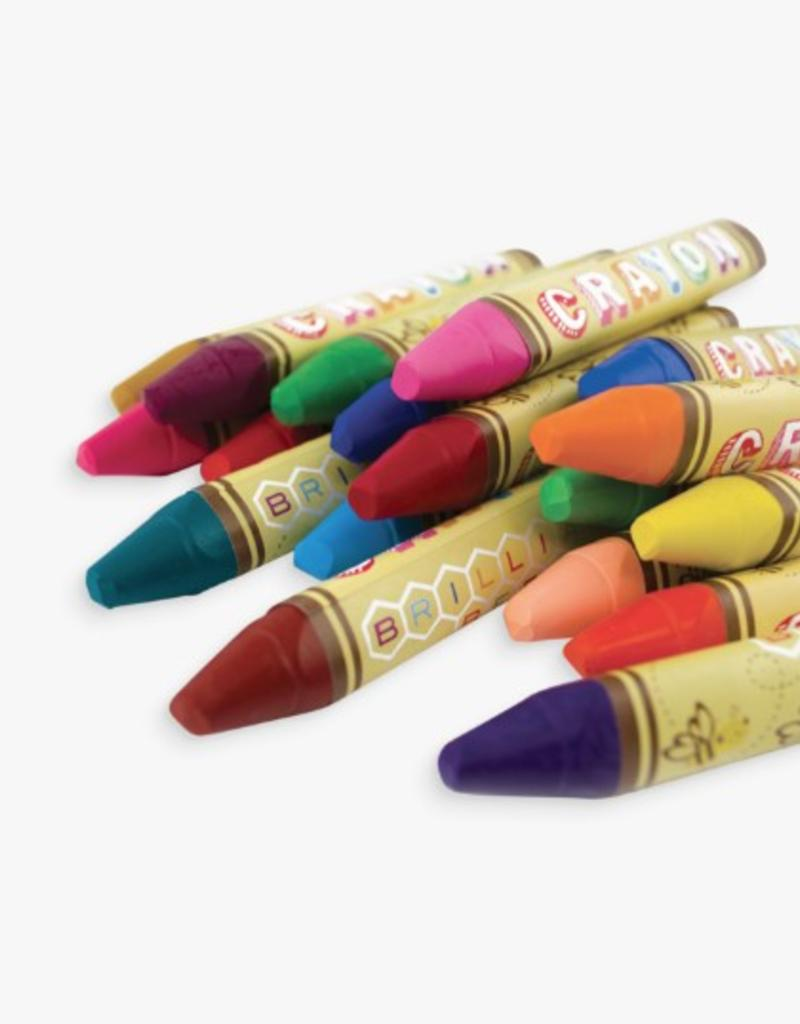 ARTS & CRAFTS International Arrivals Brilliant Beeswax Crayons 133-50