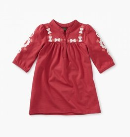 CLOTHES-Baby Girl Embroidered Henley Baby Dress