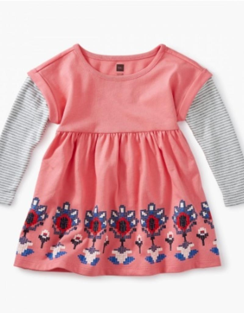 CLOTHES-Baby Girl Layered Sleeve Baby Dress