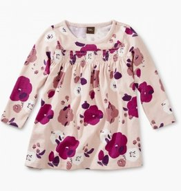 CLOTHES-Baby Girl Printed Smocked Baby Dress