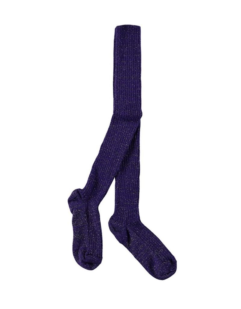 Lurex rib tights
