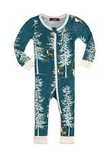 Christmas Buck  Zipper Pajamas