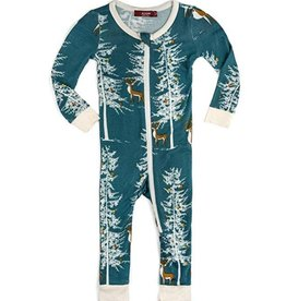 Christmas Buck  Zipper Pajamas