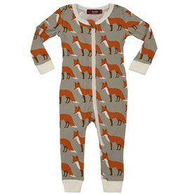 Orange Fox  Zipper Pajamas