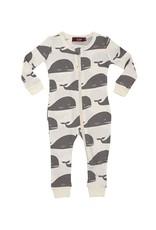 Grey Whale  Zipper Pajamas