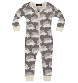 Grey Hedgehog  Zipper Pajamas
